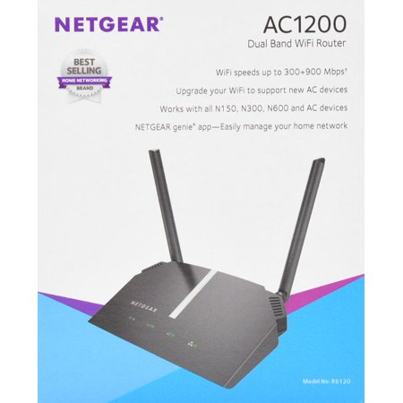 Netgear AC1200 Dual Band WiFi Router- Black (R6120)
