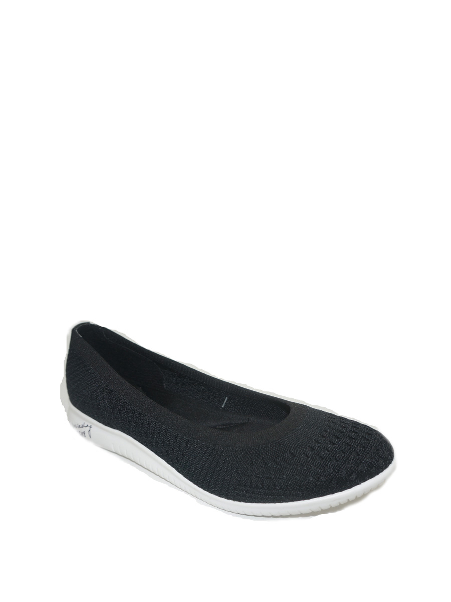 Time And Tru Brand Ballet Flats Black Stripe Size 10  NEW Casual Shoes