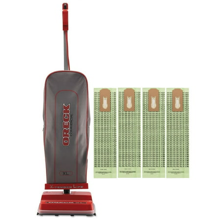 Oreck Commercial U2000R-1 120 V Red/Gray Upright Vacuum Bundle with 4 Oreck Advance Filtration Hypo-Allergenic -