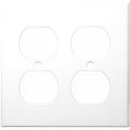 Morris Products 83222 Stainless Steel Metal Wall Plates 2 Gang Duplex Receptacle White - image 1 of 1
