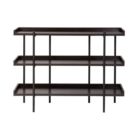 Modern Etagere - OneSpace Modern Etagere Wood and Steel 3 Shelf Display, Espresso