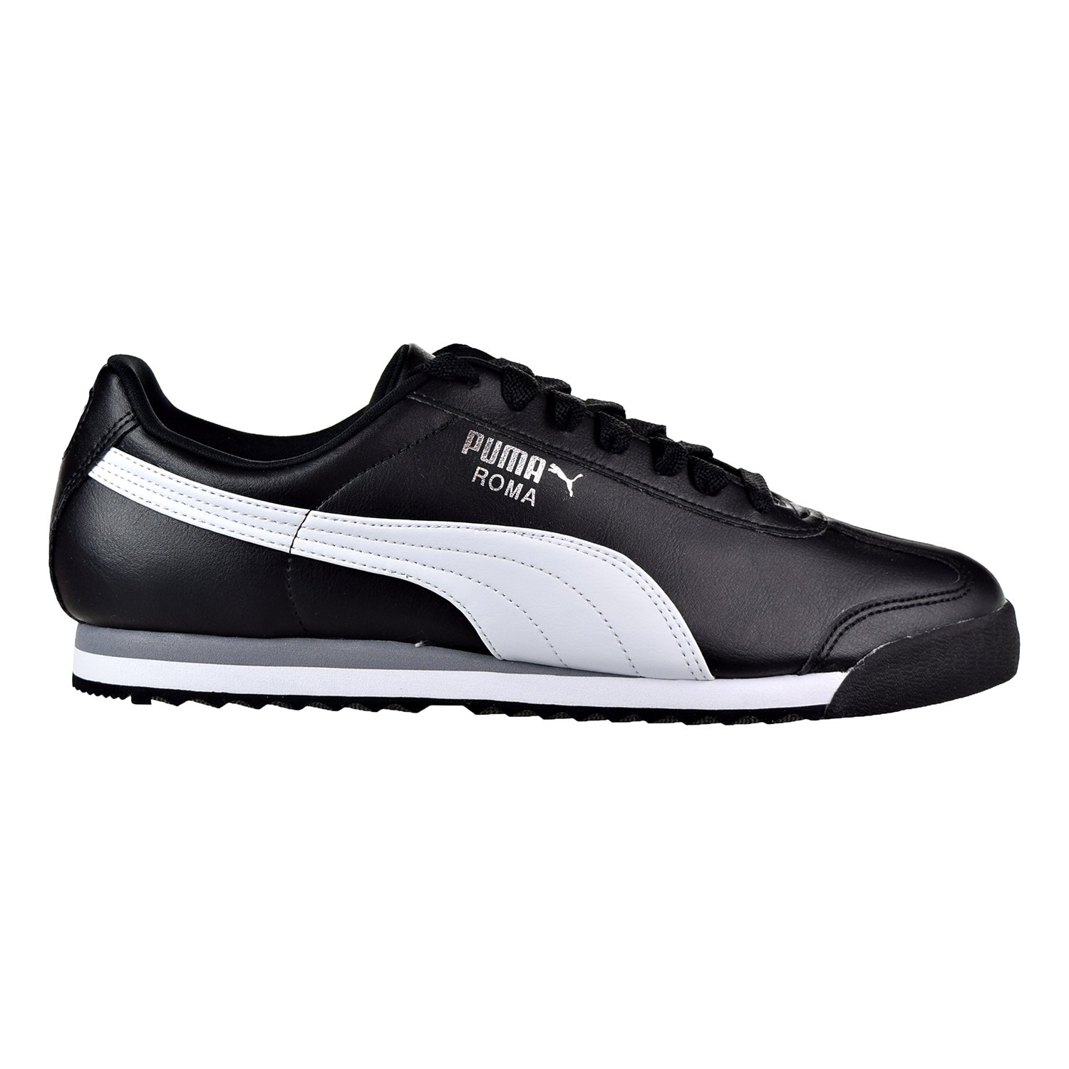 1b08ed1f27ec73 Buy Puma Roma Basic Men s Shoes Black-White-Puma Sliver 353572-11 ...