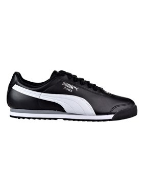 ffc4ccbfffc Product Image Puma Roma Basic Men s Shoes Black White Puma Sliver 353572-11