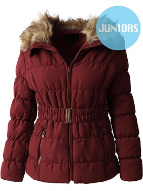 e1857d1104ab1 Product Image Girls  Fur Quilted Jacket with Belt Coat Outwear Parka