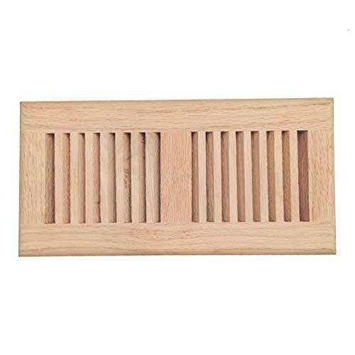 red oak wood drop in floor register vent cover, surface ...