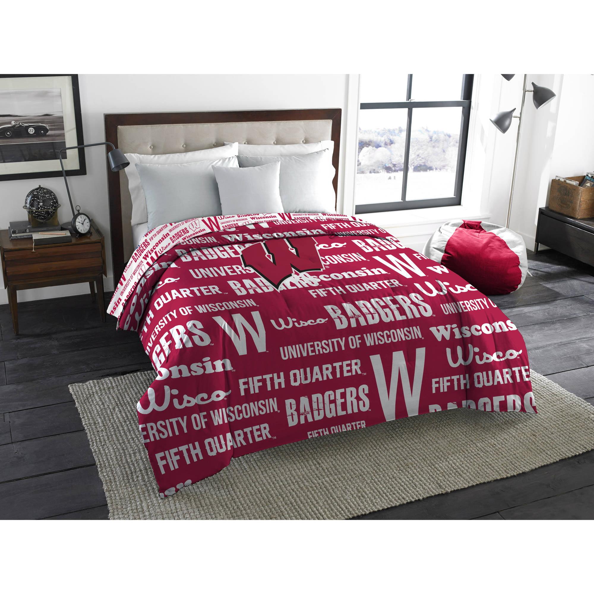 "NCAA Wisconsin Badgers ""Anthem"" Twin/Full Bedding Comforter"