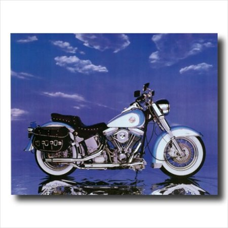Harley Davidson Heritage Motorcycle Wall Picture Art Print