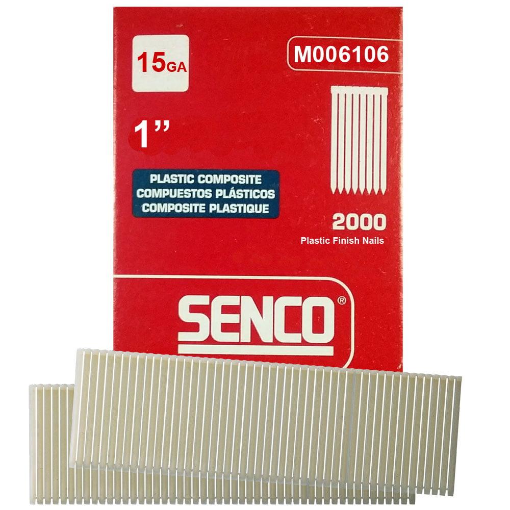 "Senco M006106 2000pk 1"" Leg 15 Gauge Plastic Composite Finish Nail by Senco Tools"