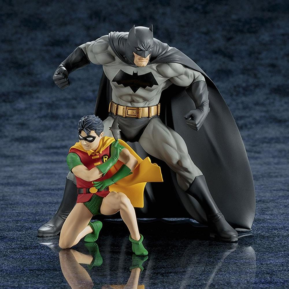 KOTOBUKIYA DC COMICS BATMAN & ROBIN TWO-PACK ARTFX+ STATUE