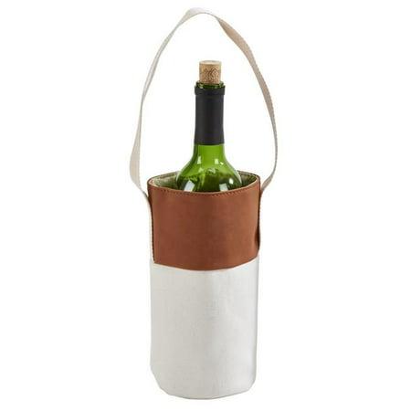 Tote Caramel (Creative Gifts International 002332 Leatherette Wine Tote,)