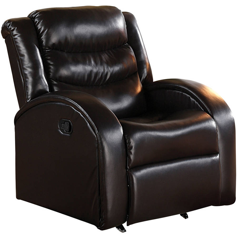 Acme Noah Rocker Recliner, Espresso Bonded Leather Match by Acme Furniture