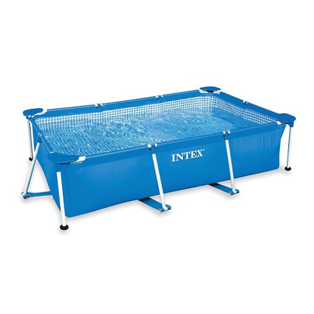 Intex 8.5 x 5.3 x 2.13 Foot Rectangular Frame Above Ground Swimming Pool, - Solid Winter Pool