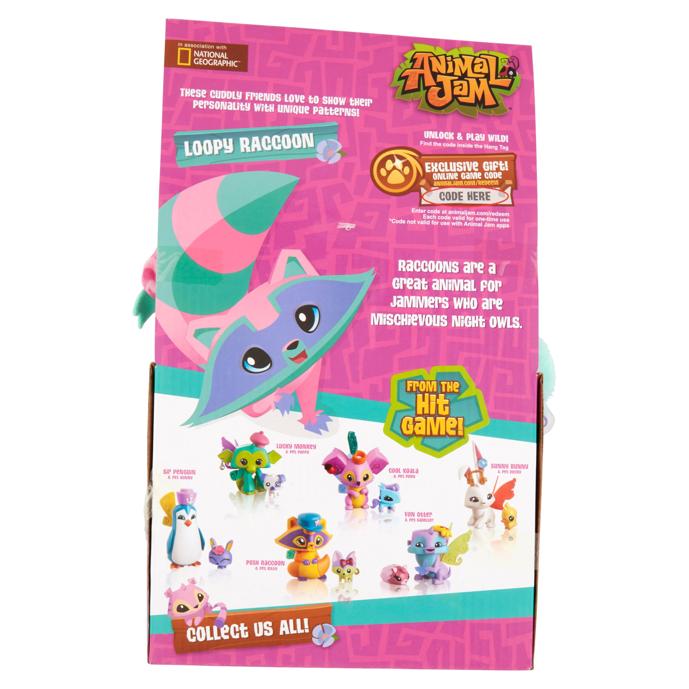 Animal Jam Loopy Raccoon Stuff Toy All Ages