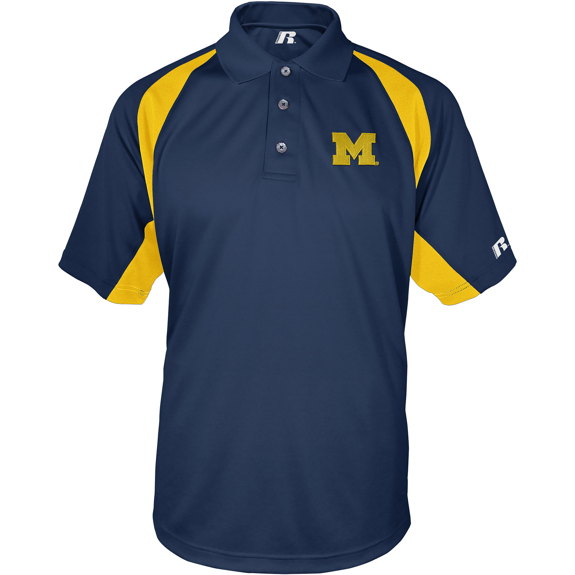 Russell NCAA Michigan Wolverines, Men's Synthetic Polo