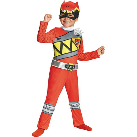 Red Ranger Dino Classic Boys Child Halloween Costume - Red Power Ranger Costume For Kids
