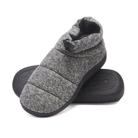 4494db2c7155 Hanes - Hanes Men s Slipper Boot House Shoes with Indoor Outdoor Memory  Foam Odor Protection Fresh IQ Sole - Walmart.com
