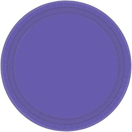 """Amscan Party Ready Disposable Round Dinner Plates Tableware, 20 Pieces, Made from Paper, New Purple, 10 1/2"""" by - image 3 of 3"""