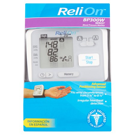 Relion Bp300w Digital Wrist Blood Pressure Monitor