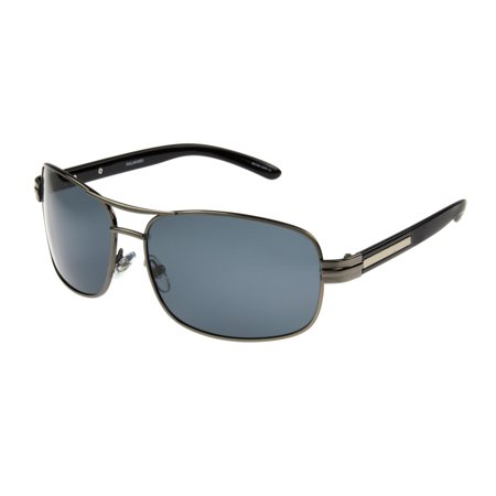 Foster Grant Men's Gunmetal Polarized Navigator Sunglasses (Best Polarized Sunglasses Brand)