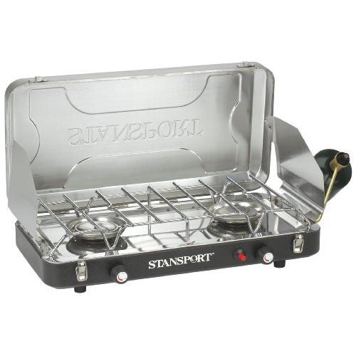Stansport Outfitters Stove - 2 x Burner - Stainless Steel