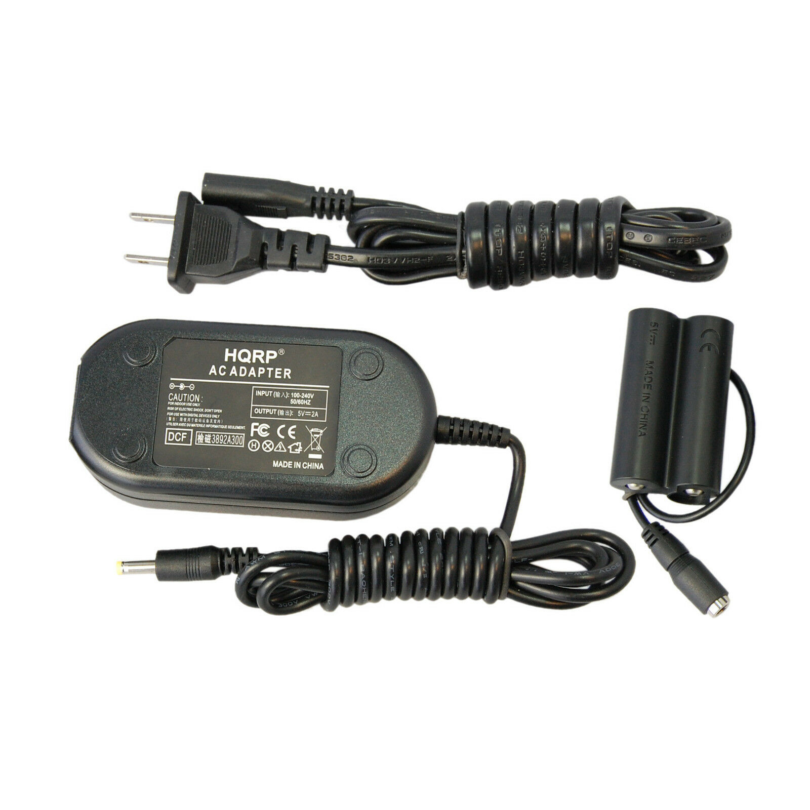 S3200 S2950 S4250 S2980 S2900 S4400 S4200 S4300 S2990 S2940 S4500 S4500HD Digital Camera Plus Euro Plug Adapter HQRP Kit AC Power Adapter and DC Coupler for Fuji Fujifilm Finepix S2800HD