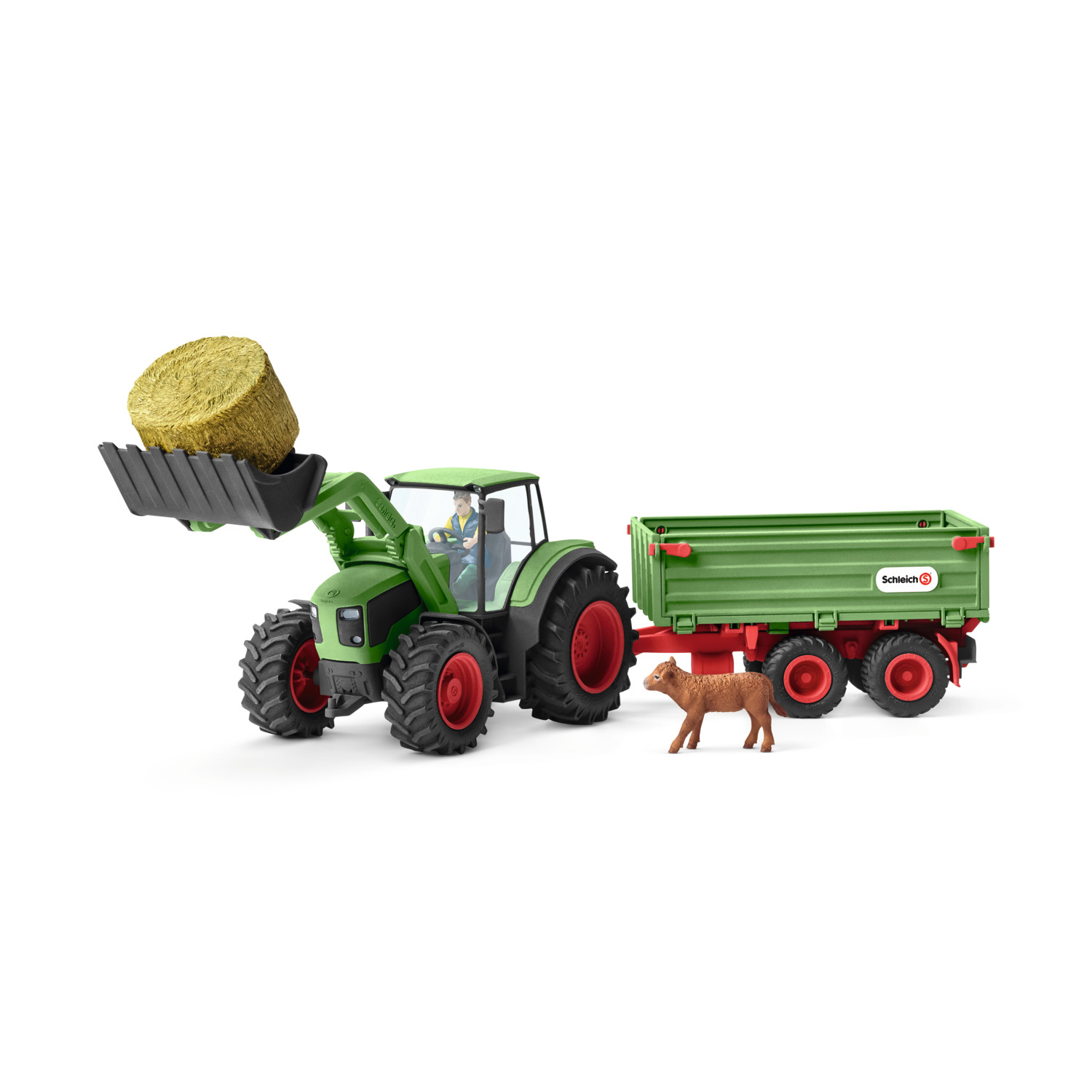 Schleich Farm World, Tractor with Trailer Toy Figure by Schleich USA Inc