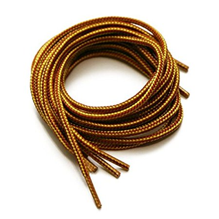 """Round Shoelaces 27"""",36"""",45"""",54"""" Athletic """"Yellow/Brown"""" sneaker Boots & Shoes 1 pair 27"""""""