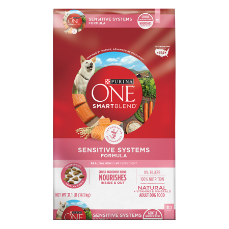 Purina ONE Natural Sensitive Stomach Dry Dog Food; SmartBlend Sensitive Systems Formula - 31.1 lb. (Best Dog Food For Chihuahua With Sensitive Stomach)