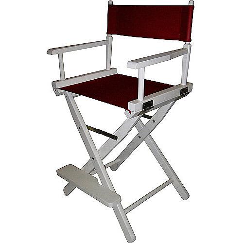 24 Quot Director S Chair White Frame Burgundy Canvas Walmart Com