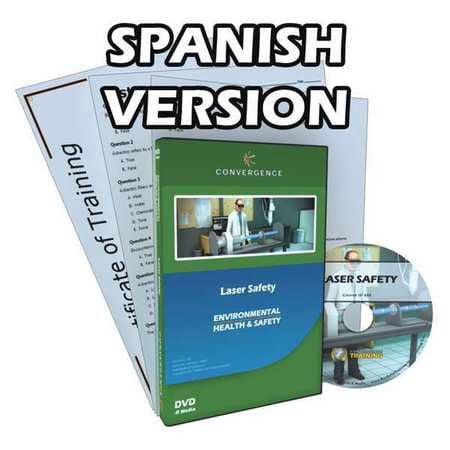 Laser Training - CONVERGENCE TRAINING C-805-ES-AR Laser Safety,Safety Training,Spanish G2401485