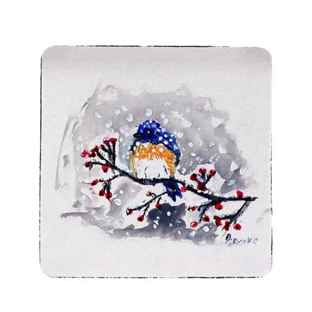 Betsy Drake CT515 Bluebird in Snow Coaster - Set of 4 - image 1 of 1