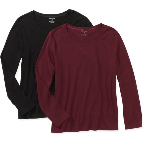 White Stag Women's Plus-Size Scoopneck Tee, 2-Pack