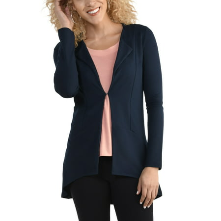 Women's Open Front Long Sleeve - Extra Long Cardigan
