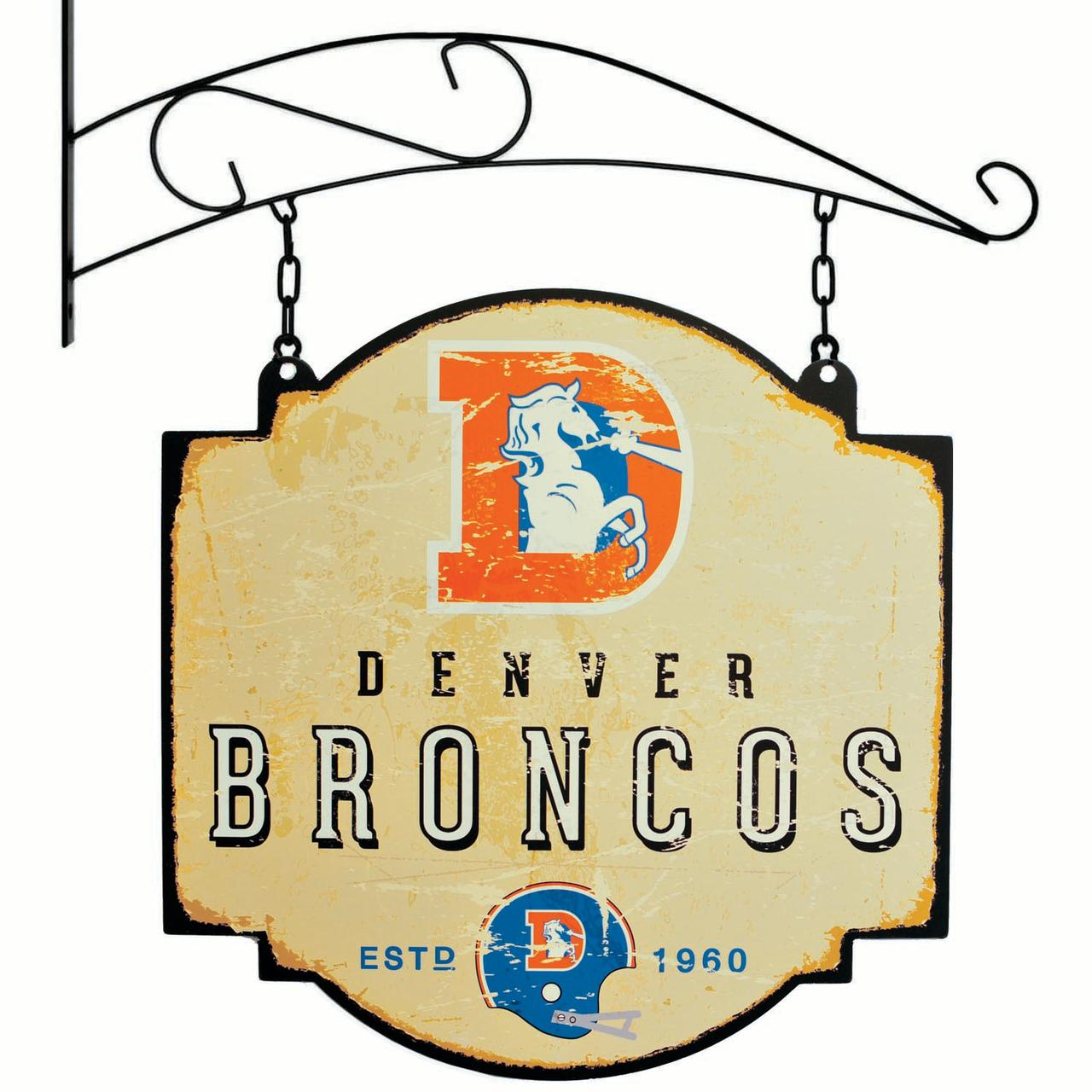 Denver Broncos Official NFL 16 inch x 16 inch  sign by Winning Streak