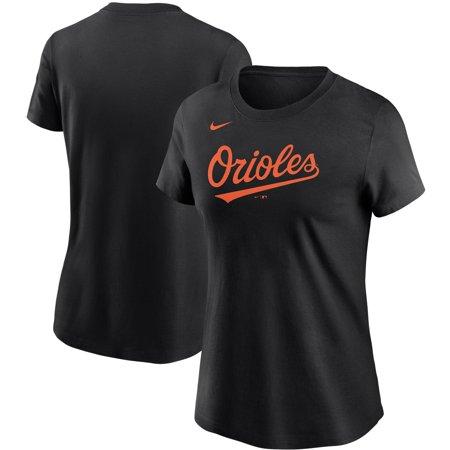 Baltimore Orioles Nike Women's Wordmark T-Shirt - Black