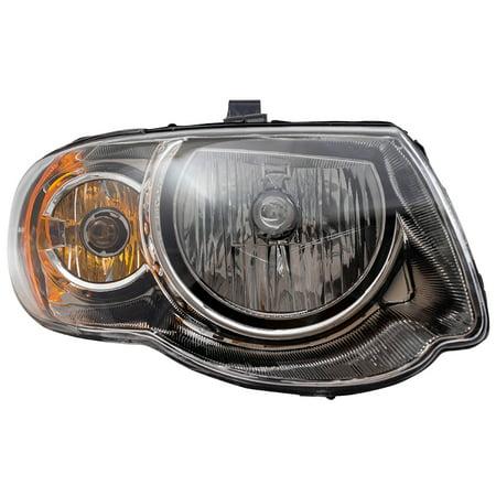 BROCK Halogen Headlight Headlamp Passenger Replacement for 05-07 Chrysler Town & Country Van with 119