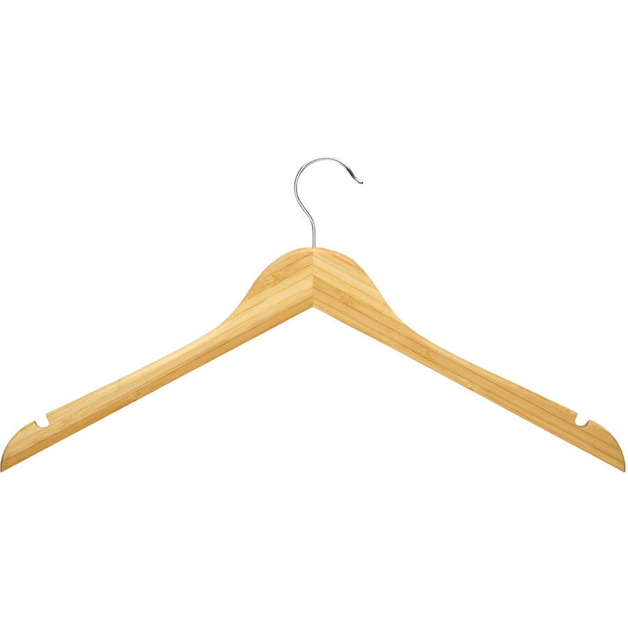 Honey-Can-Do Wood Shirt Hangers, 5-Pack