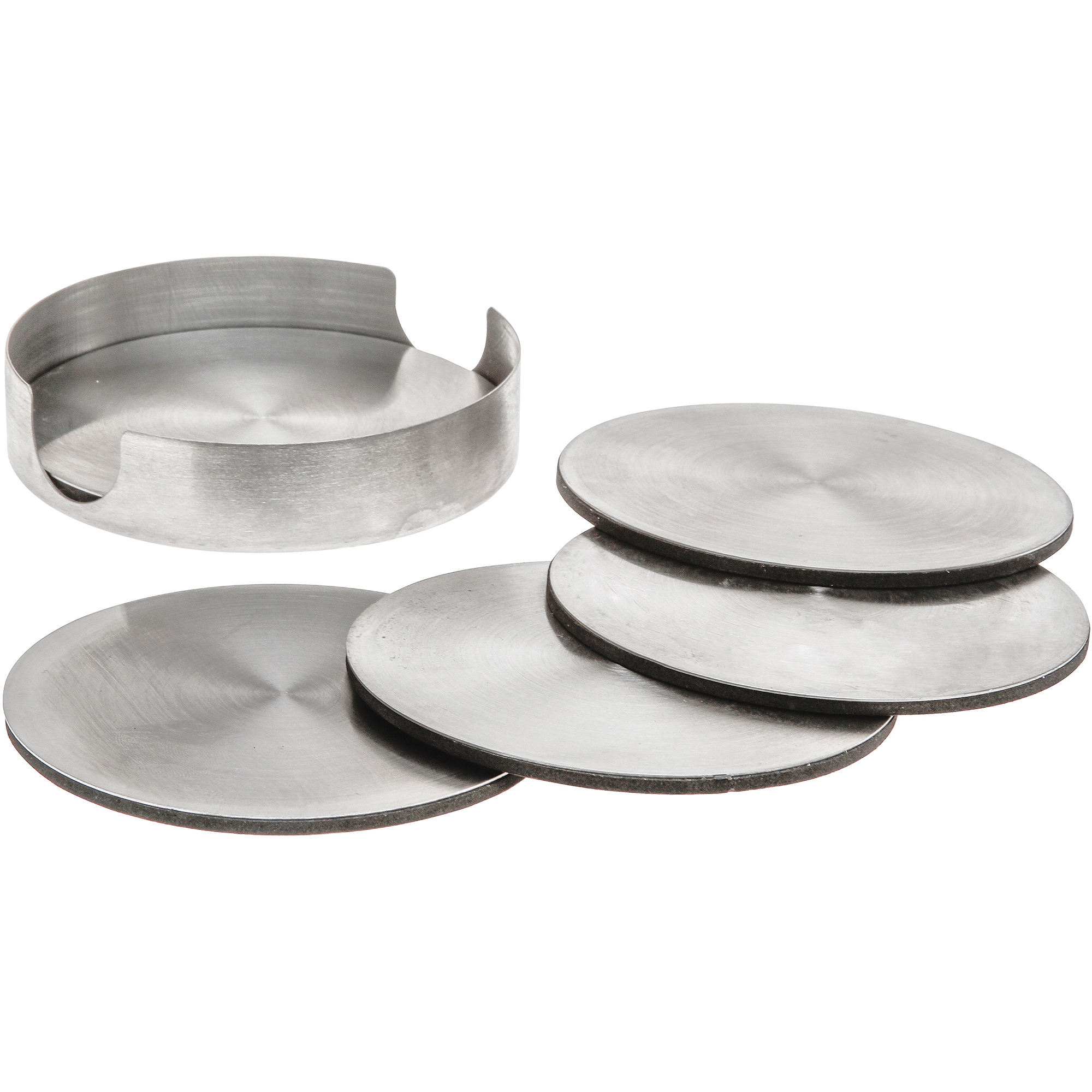 Czoc Housewares Drink Coasters, Stainless Steel Round