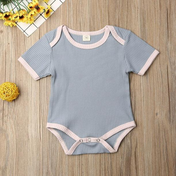 UK Newborn Baby Girls Ruffled Collar Bodysuit Long Sleeve Toddler Romper Clothes