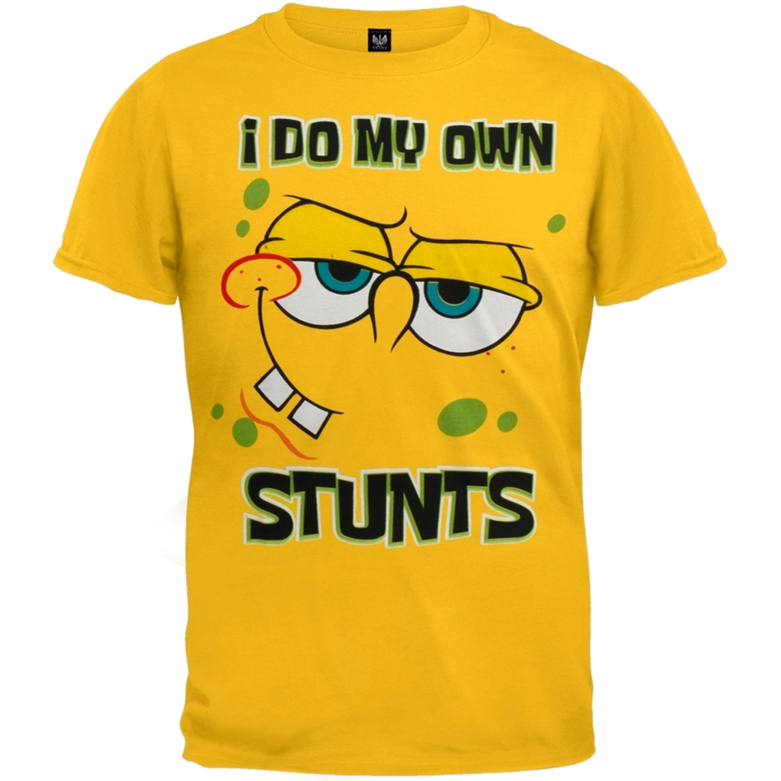 Spongebob Squarepants - I Do My Own Stunts Youth T-Shirt