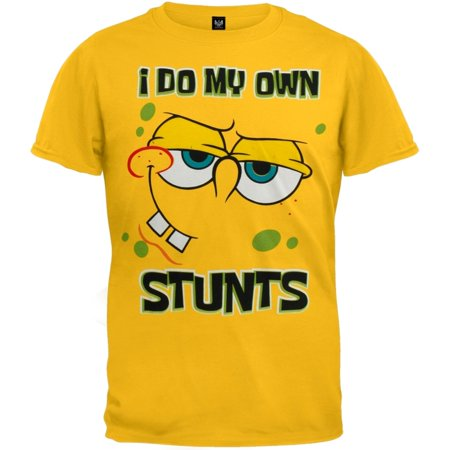 Spongebob Squarepants   I Do My Own Stunts Youth T Shirt