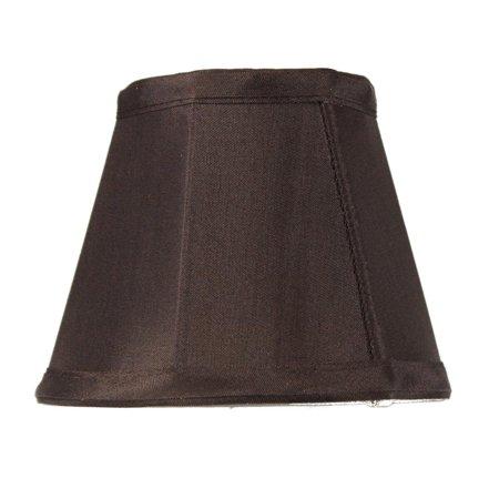 3x5x4 Chandelier Chocolate Bavarian Fabric Clip-On Lampshade (Bavarian Decor)