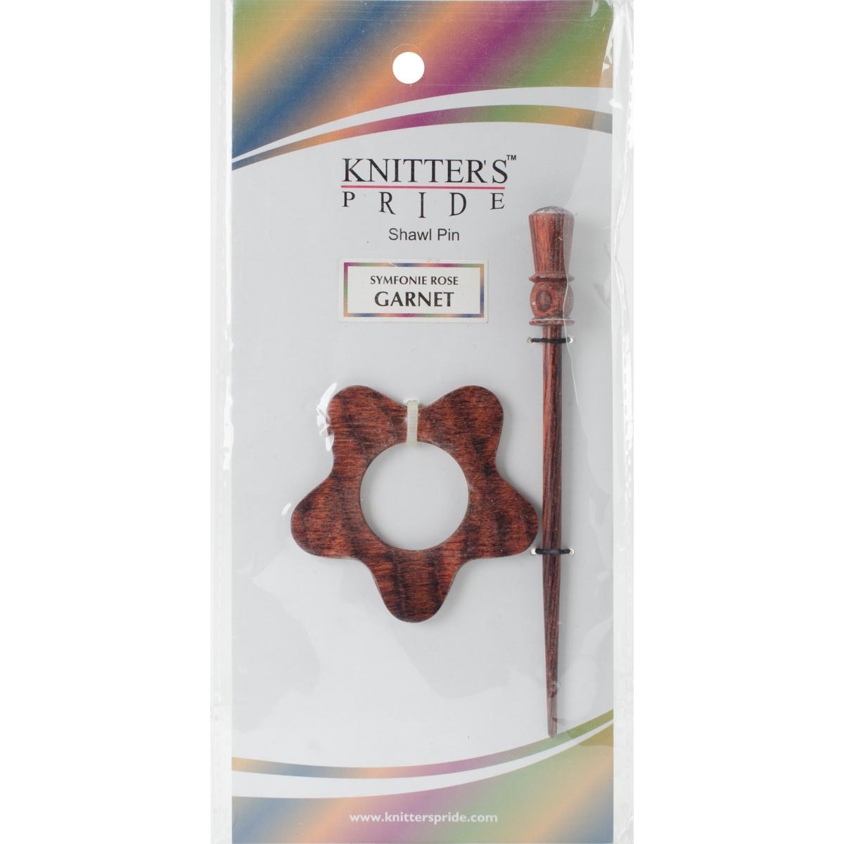 Symfonie Rose Shawl Pin-Garnet by Knitter's Pride