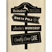 Inkadinkado Christmas Mounted Rubber Stamp 2.25 Inch X 3 Inch-Rein