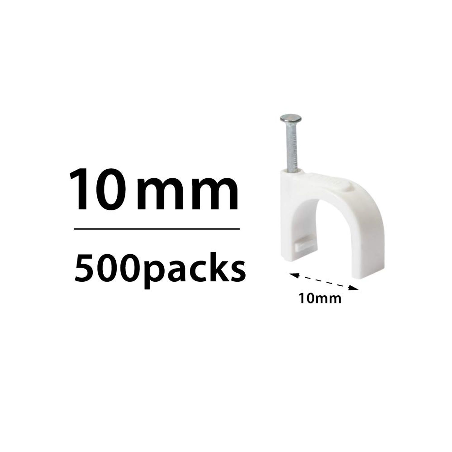 Wire Clamps Staples For Ethernet RG6 RG59 CAT5 CAT6 TV White Cable Clips Nails