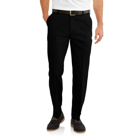George Mens Performance Comfort Flex Suit Pants (Black Men Pants)