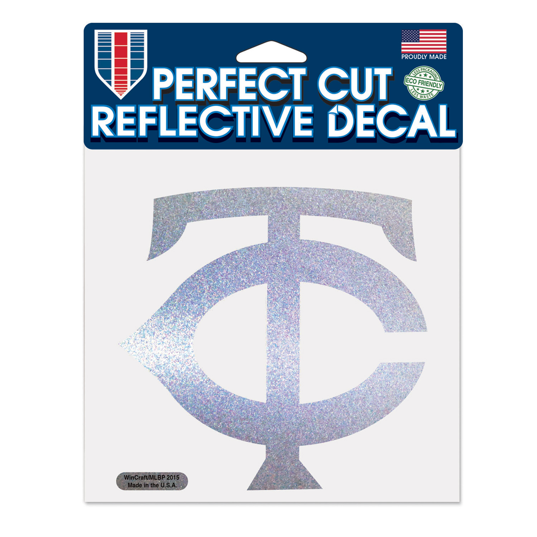 "Minnesota Twins WinCraft 6"" x 6"" Reflective Perfect Cut Decal - No Size"