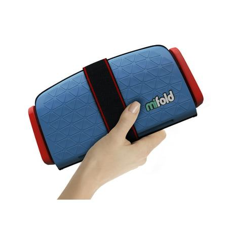 mifold Grab-and-Go Booster Car Seat, Denim Blue
