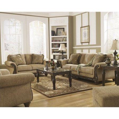 Ashley Cambridge 4 Piece Sofa Set In Amber Walmart Com