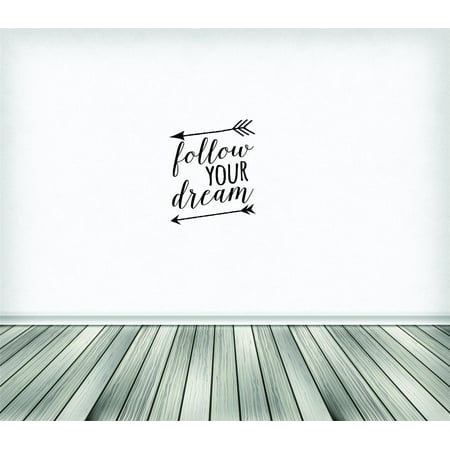 New Wall Ideas Follow Your Dream Text Lettering Inspirational Life Qu